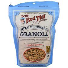 bob u0027s red mill granola apple blueberry 12 oz 340 g iherb com