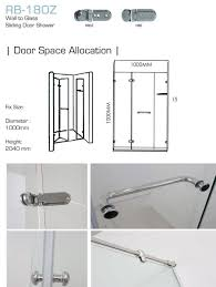rb180z shower screen reliance home