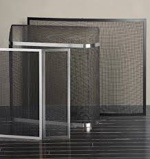 spark guard small rejuvenation and brushed nickel fireplace screen