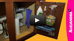 How To Organize A Kitchen Cabinet - video how to organize under the kitchen sink cabinet