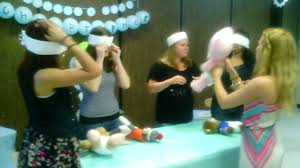 blindfolded diaper changing contest youtube