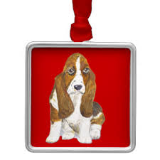 brown white basset hound ornaments keepsake ornaments zazzle