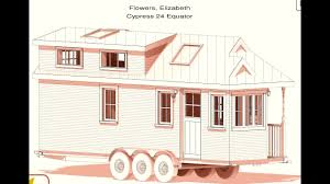tumbleweed tiny house plans cypress 24 lizzy flowers youtube