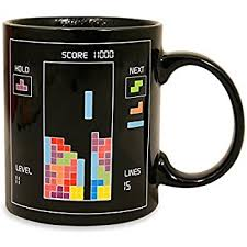 heated coffee mug amazon com paladone tetris heat changing mug kitchen dining