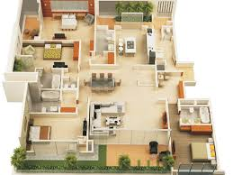 4 bedroom apartment floor plans bed 7 3d three bedroom house plans 533535887078956362 3d small