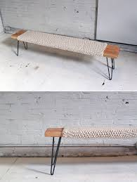 make this knitted wool and wood bench for just 85 brit co