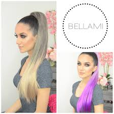 bellamy hair extensiouns bellami clip wrap pony tutorial youtube