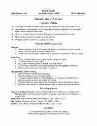 Pastry Chef Resume Examples by Cook Resume Objective Examples Line Cook Resume Example Best Cv