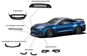mustang all models 15 17 mustang gt350 style mustang front bumper with front lip