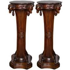 Wood Pedestal Stand Tall Carved Wood Pedestal Plant Or Statue Stand For Sale At 1stdibs