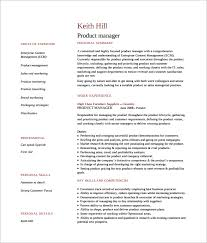 Resume Word Templates Free Sample Product Manager Resume 8 Download Documents In Pdf