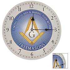 Masonic Home Decor Amazon Com Freemason Brothers Masonic Wall Clock Home U0026 Kitchen