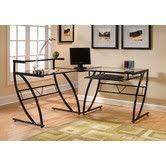 Z Line Belaire Glass L Shaped Computer Desk 22 Best Office Furniture Images On Pinterest Computer Desks
