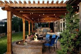 patio kitchen ideas pergola idea mid sized rustic backyard sted concrete patio
