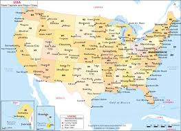 map showing states and capitals of usa us states and major cities map united states map showing states
