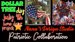 easy dollar tree diy for july 4th patriotic wreath u0026 table wreath