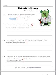 Beginner Reader Worksheets Reading Worksheet Substitute Meany Alexsiabingley1234