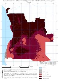 Angola Map Endemic Countries U2013 Malaria Atlas Project