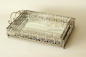 Decorating Dresser Top by Decoration Mirror Tray Decorative Serving Trays Perfume Wood For