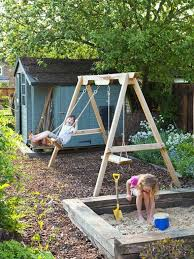 Family Garden Ideas Swings And Sandpit Part Of A Family Garden Featured On