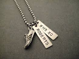 personalized necklaces cross country or track running personalized necklace bracelet