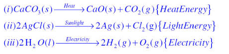 question 12 write one equation each for decomposition reactions