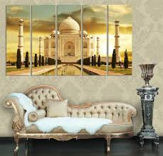 online cheap taj mahal india modern home decor canvases set of 5