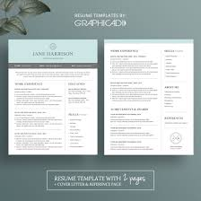 2 page resume template modern 2 page resume template with cover letter and reference page