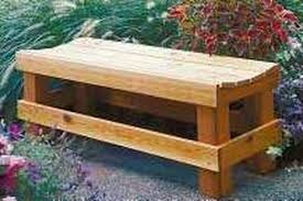 Build Wood Outdoor Furniture by How To Build Wood Outdoor Benches Hunker