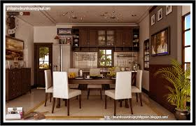 kerala style single floor house dining decorate