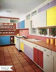 Multi Colored Cabinets In The Kitchen Apartment Therapy