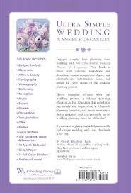 Wedding Planning Book Ultra Simple Wedding Planner U0026 Organizer Alex A Lluch