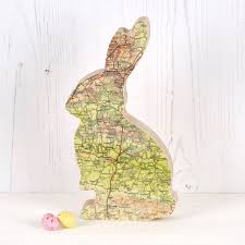 personalised map new baby bunny rabbit ornament by bombus