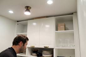 Install Crown Molding On Kitchen Cabinets How To Trim Out Ikea Cabinets Chris Loves Julia