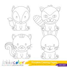 Animal Coloring Pictures Funny Coloring Woodland Animals Coloring Pages