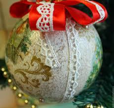 buy vintage christmas balls new year decoupage on livemaster