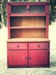 distressed buffet and hutch w chicken wire doors