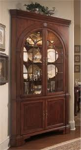 two corner curio cabinets for formal balance dining room
