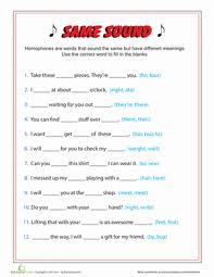 same sound different spelling third grade grammar worksheets