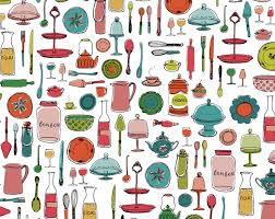 animation cuisine pattern design fauché graphic design illustration