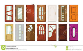 types of mugs set of different types of doors stock illustration image 59468142