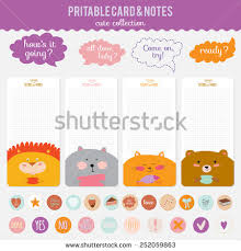 romantic love cards notes stickers labels stock vector 252059863