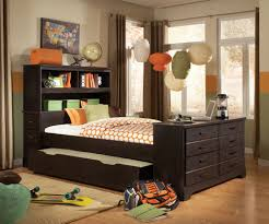 Captain Bed With Trundle Bed U0026 Bedding Full Size Trundle Bed For Mesmerizing Bedroom