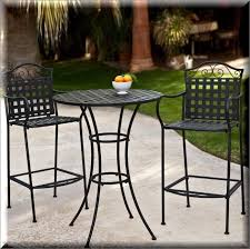 Outdoor Furniture High Table And Chairs by Patio Bistro Set 3 Piece Outdoor Garden Furniture High Round Table