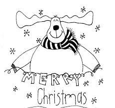merry christmas coloring pages reindeer christmas coloring pages