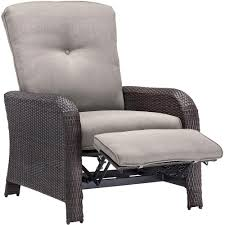 Lounge Chair Hampton Bay Oak Cliff Stationary Metal Outdoor Lounge Chair With