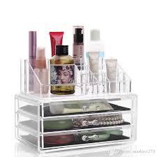 2017 three layer drawer clear acrylic crystal cosmetic organizer