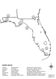 Pensacola Florida Map by Florida Map Worksheet Coloring Page Free Printable Coloring Pages