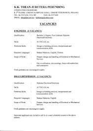 exle of a student resume metallurgical engineer sle resume 18 mechanical civil