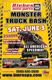 monster truck show tickets prices tickets monster truck bash june 3 bmr napa